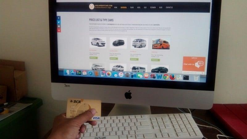 Pesan Online Sewa Mobil di Yogyakarta