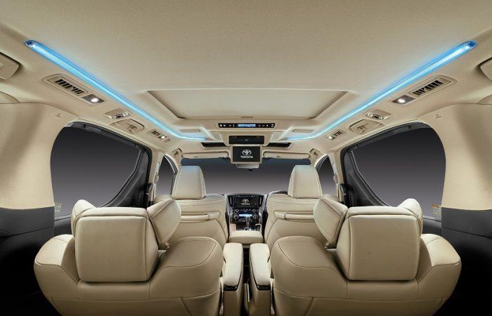 Sewa Mobil Toyota Alphard - interior2