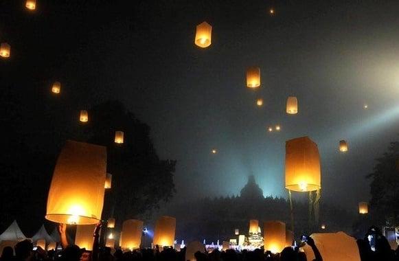 Perayaan Waisak di Candi Borobudur