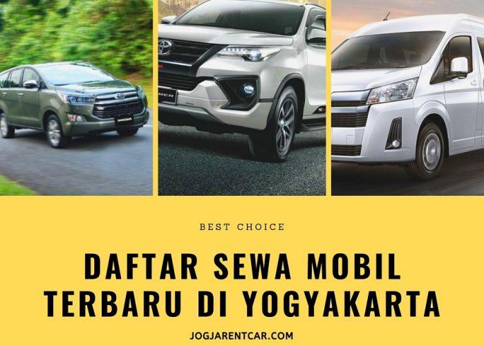 Daftar Sewa Mobil Terbaru di Yogyakarta